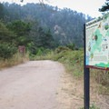 There are a few informational signs around the ranger station, but there are few once the trail begins.- Skyline To The Sea Loop