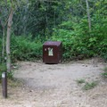 Most of the camp sites have bear lockers, and all have a flat area for a tent.- Alder Trail Camp