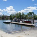 The marina at Sandpoint City Beach Park. - Sandpoint City Beach Park