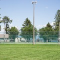 Tennis and pickleball courts at Sandpoint City Beach Park.- Sandpoint City Beach Park