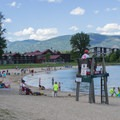 Some beaches have designated swimming areas with lifeguards.- Sandpoint City Beach Park