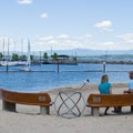 City Beach in Sandpoint, Idaho.- Sandpoint City Beach Park