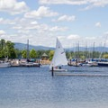 The marina at Sandpoint City Beach Park.- Sandpoint City Beach Park