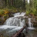 Waterfall along Commonwealth Creek.- Smutwood Pass