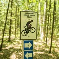 The trails are well marked.- Ludington School Forest Trails