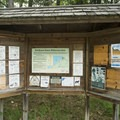 The information kiosk at the Nurnberg Tralhead.- Lake Michigan Recreation Area + Nordhouse Dunes Wilderness Area