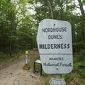 The dunes are part of the Manistee National Forest.- Lake Michigan Recreation Area + Nordhouse Dunes Wilderness Area