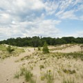 The weather can change quickly in the dunes.- Lake Michigan Recreation Area + Nordhouse Dunes Wilderness Area