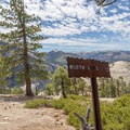 Signage makes the trial easy to follow. - North Dome + Indian Rock Via Porcupine Creek Trailhead