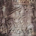 Bas relief at Bayon Temple.- Temples of Angkor Thom