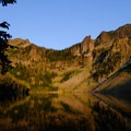 Golden Light over Crescent Lake- Crescent Lake Hike via Specimen Creek Trail