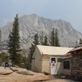 Dining room with a view of Fletcher Peak in the background. - Vogelsang High Sierra Camp