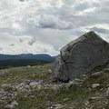 Glacial boulder remnants. - Summit Ridge Trail
