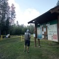 The trailhead features a picnic area and a very informative kiosk with maps. - Fort Nelson's Demonstration Forest