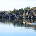 Quiet waters heading out of a bay.- Lasqueti Islands Coast Paddle