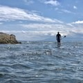 Playing with submerged tidal reefs.- Lasqueti Islands Coast Paddle