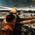 The driftwood is great for resting your boats or for building a shelter.- Lasqueti Islands Coast Paddle