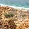 View of the sandstone cliffs from Razor Point.- Razor Point Trail