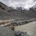 There are a few bridges over the glacial river, allowing you to get up close to the glacier.- Morteratsch Glacier Walk