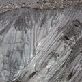Close-up of the glacier wall from the end of the trail.- Morteratsch Glacier Walk