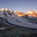 Sunrise at Diavolezza is incredible to watch.- Diavolezza, Munt Pers + Sass Queder Hike