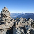 The summit of Munt Pers.- Diavolezza, Munt Pers + Sass Queder Hike
