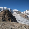The view from Sass Queder - Piz Trovat obscures some of the glacier, but the panorama is nevertheless incredible.- Diavolezza, Munt Pers + Sass Queder Hike