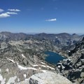 Looking down at the Lakes Basin from Eagle Cap.- Eagle Cap