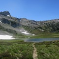 A side trail to an alpine lake in the Eagle Cap Wilderness.- Eagle Cap