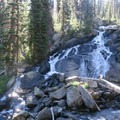 A waterfall along the East Lostine River.- Eagle Cap