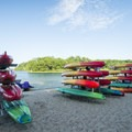 The park offers rentals for kayaks, canoes, and tubes.- Ludington State Park