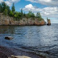 Beach along Lake Superior.- Tettegouche State Park