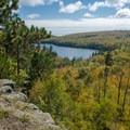 View of Tettegouche Lake.- Tettegouche State Park