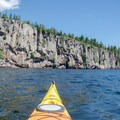 View of Shovel Point from Lake Superior.- Tettegouche State Park