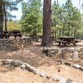 The picnic area at Stonewall Mine.- Minshall Trail to Stonewall Mine Loop