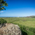 This rocky overlook is a perfect place for a picnic.- Na Pohaku o Hauwahine