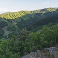 Looking southeast toward Park City and Deer Valley Ski Resorts. - Iron Canyon Trail