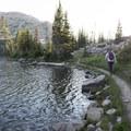 Coming around Clyde Lake at sunset. - Wall Lake Loop