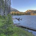 Clyde Lake at sunset.- Wall Lake Loop