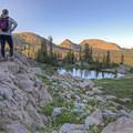 Notch Peak above Wall Lake.- Wall Lake Loop