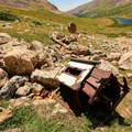 Old remnants of a stove.- Kite Lake