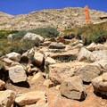 Rocky trail.- Kite Lake