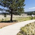 The trail starts at the visitor center.- Geologic Trail