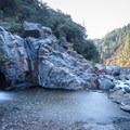 The falls at the end of the Spring Creek hiking trail.- Spring Creek Trail