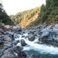 The South Yuba River alternates between rapids, falls, and deep, slow moving pools perfect for jumping into.- Spring Creek Trail