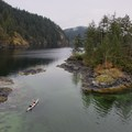 Looking out toward South Twin Island. - Paddle to Twin Islands Campsite