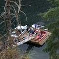 The landing dock. - Paddle to Twin Islands Campsite