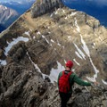 Enjoying the view from the ridge.- Mount Whyte + Mount Niblock