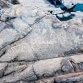 Badly Worn Hohokam Petroglyphs.- Hieroglyphic Trail