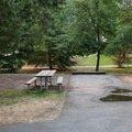 Standard vehicle site in A Loop.- Valley of the Rogue State Park Campground